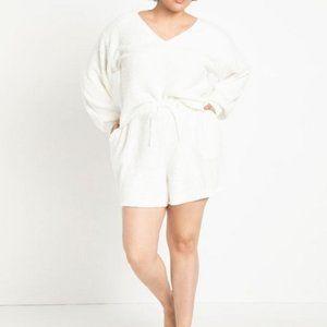 Eloquii Women's Fuzzy Lounge Shorts 18/20